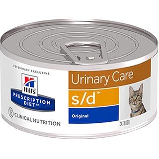Hill's S/D корм для кошек для лечения мочекаменной болезни, струвиты, банка 156 г