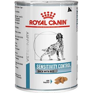 Royal Canin Sensitivity Control корм для собак, при пищевой аллергии с уткой, банка 420 г