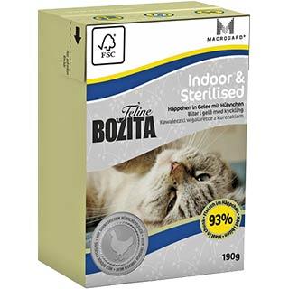 BOZITA корм для домашних, стерилизованных и малоподвижных кошек, уп. 190 г