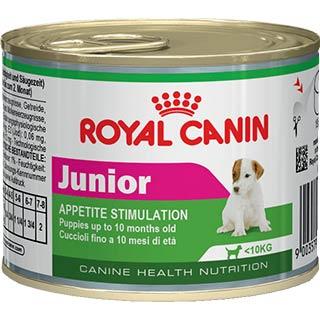 Royal Canin Junior корм для щенков мелких пород до 10 месяцев, банка 195 г