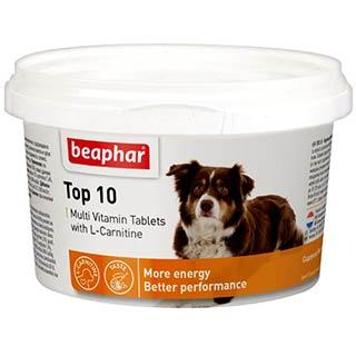 Beaphar Тор 10 Multi Vitamin мультивитамины для собак,, уп. 750 таблеток