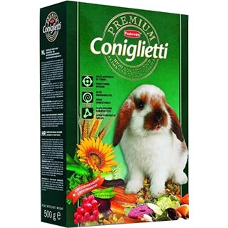 Padovan Премиум конглиетти корм для декоративных кроликов, уп. 500 г