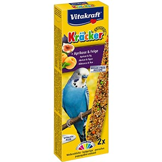 Vitakraft,  лакомство-крекер для волнистых попугаев абрикос и инжир, уп. 2 штуки