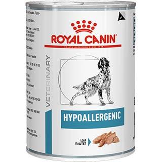 Royal Canin Hypoallergenic корм для собак, с пищевой аллергией или непереносимостью, банка 200 г