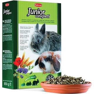Padovan Junior Coniglietti комплексный корм для молодых декоративных кроликов, уп. 850 г