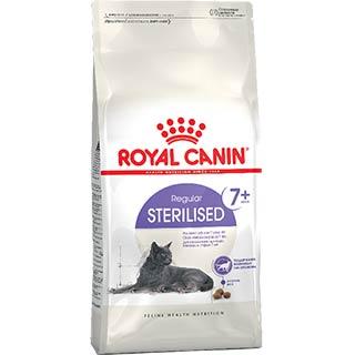 Royal Canin Sterilised 7+, корм для стерилизованных кошек старше 7 лет, уп. 0.4 кг