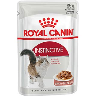 Royal Canin Instinctive, корм для кошек старше 1 года в соусе, пауч 85 г