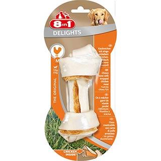 8 in 1 DELIGHTS, М косточка для средних и крупных собак 14.5 см