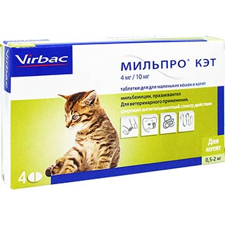 Мильпро кэт, для котят, уп. 4 таблетки