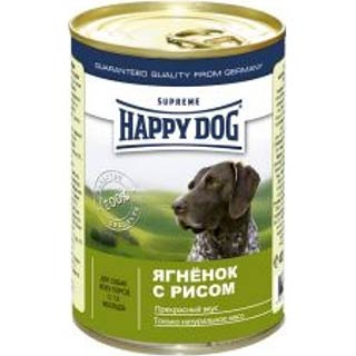 Happy Dog корм для собак, ягненок с рисом, банка 400 г