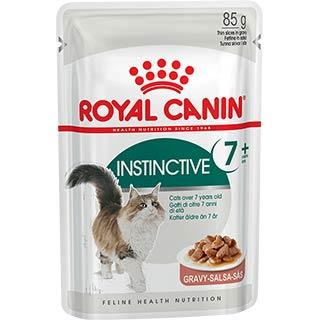 Royal Canin Instinctive, +7 корм для кошек старше 7 лет в соусе, пауч 85 г