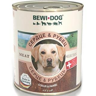BEWI-DOG корм для собак сердце и рубец, банка 800 г