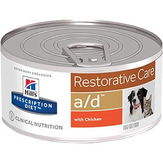 Hill's A/D корм для собак и кошек, помощь при истощении, банка 156 г