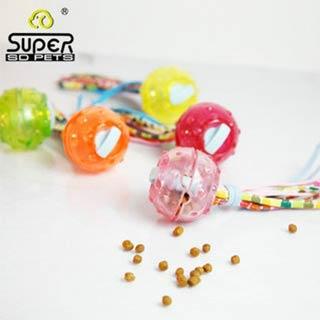 Игрушка Super Design для собак Мячик с текстильными хвостиками, силконовый, 6,5 см