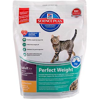Hill's Perfect Weight корм для кошек, склонных к набору веса, уп. 250 г
