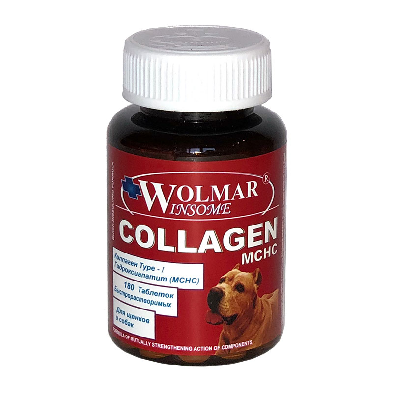 Wolmar Winsome Collagen MCHC комплекс для восстановления сухожилий собак, уп. 180 таблеток