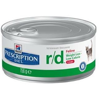 Hill's R/D корм для кошек для лечения ожирения, банка 156 г