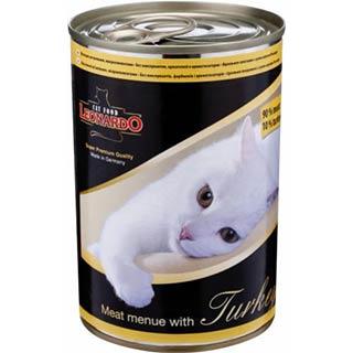 Leonardo корм для кошек с индейкой, банка  400 г