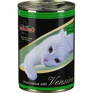 Leonardo корм для кошек с дичью, банка  400 г