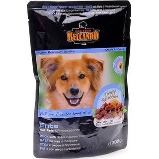 Belcando корм для собак  утка с рисом и брусникой , пауч 125 г