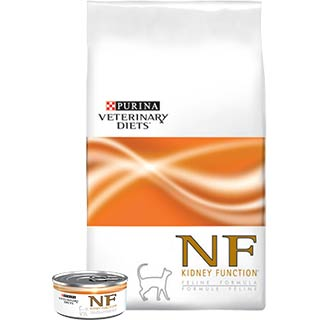 Purina Veterinary Diets NF, диета для кошек при патологиях почек, банка 195 г