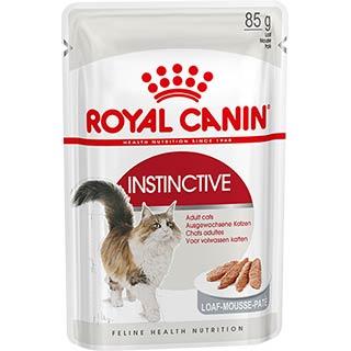 Royal Canin Instinctive, корм для кошек старше 1 года в паштете, пауч 85 г