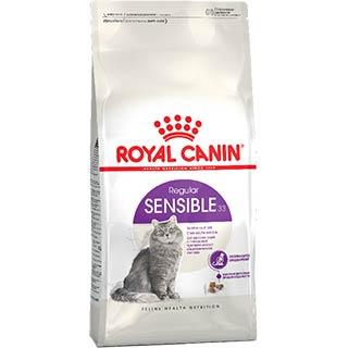 Royal Canin Sensible корм для кошек, с чувствительной пищеварительной системой от 1 до 7 лет, уп. 0.