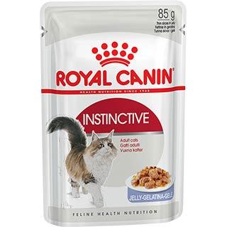 Royal Canin Instinctive, корм для кошек старше 1 года в желе, пауч 85 г