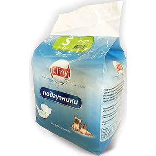 CLINY подгузники, для животных 3-6 кг размер S, уп. 10 штук