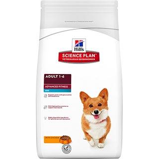 Hill's Advanced Fitness корм для собак мелких пород от 1 до 6 лет для поддержания мускулатуры с кури
