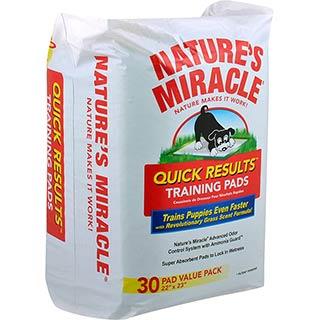 """NATURES MIRACLE, пеленки обучающие впитывающие """"Быстрый результат"""" 55х57.5, уп. №30"""