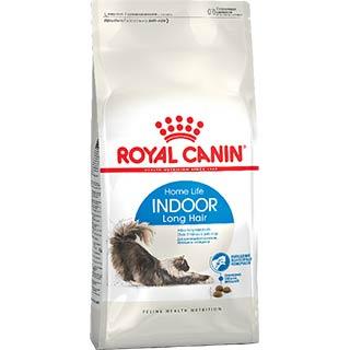 Royal Canin Indoor Long Hair корм для кошек с длинной шерстью, постоянно живущих дома, уп. 0.4 кг