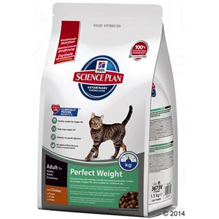 Hill's Perfect Weight корм для кошек, склонных к набору веса, уп. 1,5 кг