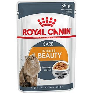Royal Canin Intense Beauty, корм для кошек для поддержания красоты шерсти старше 1 года в желе, пауч