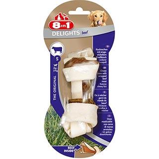 8 in 1 EXCEL DELIGHTS Beef, S косточка с говядиной для мелких и средних собак 11 см