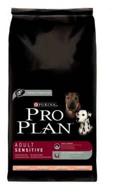 Pro Plan Adult Sensitive корм для собак с чувствительным пищеварением, лосось с рисом, уп.3 кг