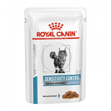 Royal Canin Sensitivity Control корм для кошек при пищевой аллергии с курицей, пауч 0.1 кг