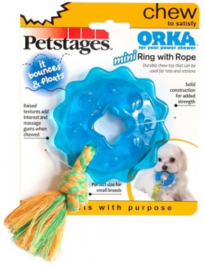 Игрушка  Petstages для собак Mini OPKA кольцо с канатом маленькая