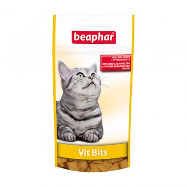 Beaphar Vit Bits мультивитаминные подушечки для кошек,, уп. 35 г