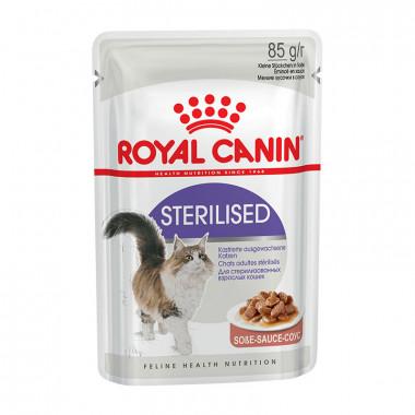 Royal Canin Sterilised, корм для стерилизованных кошек от 1 до 7 лет в соусе, пауч 85 г