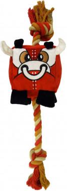 Игрушка Chewbots для собак кубик из плотного текстиля с канатом