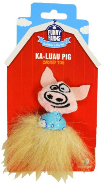 Игрушка Funny Farms для кошек Свинка в гавайской юбке
